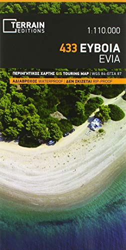 Touristische Karte 433 Evia (Euboea) 1:110 000