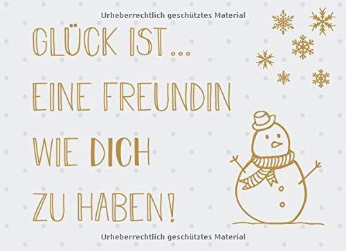 Glück ist... eine Freundin wie dich zu haben: Adventskalender – Gutscheinbuch mit 24 Gutscheinen zum selbst ausfüllen, Geschenk für die beste Freundin zum Advent