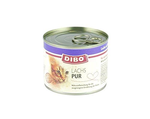 DIBO CAT LACHS, 200g-Dose aus ausgesuchtem Lachs hergestellt und mit Katzengamander verfeinert