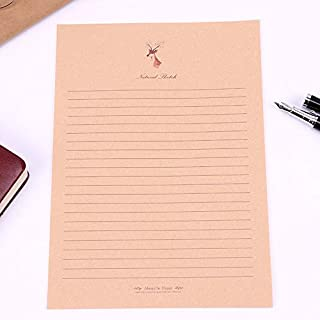 10 Sheets/Set New Letter Pad European Vintage Style Writing Paper Letter Good Quality Culture Office Stationery (Color : F...