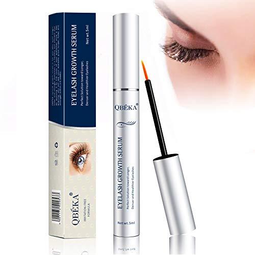 Eyelash Growth Serum, QBÉKA Lash and Brow Growth Serum Irritation Free Formula with Biotin & Peptides, Lash Boost Serum for Longer, Fuller, Thicker Lashes & Brows