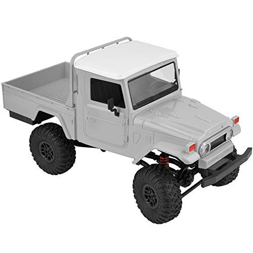 Drfeify 1/12 4WD RC Remote Control Crawler Car Modelo de Vehículo de Juguete (Naranja, Azul, Plata)(Plata )