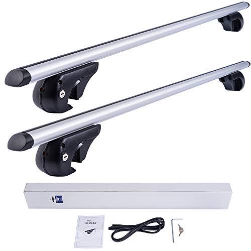 DGH System Kompletter Aluminium-Dachträger Easy Line Basic 120 cm für Hyundai i30 CW Kombi 2008-2012 mit offener Dachreling, abschließbar, Nutzlast 90 kg