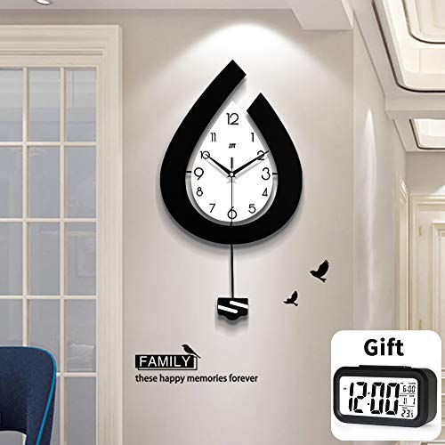 TT Large Woodwall Clocks Large Decorative Wall Clock for Living Room (31.4 inch)