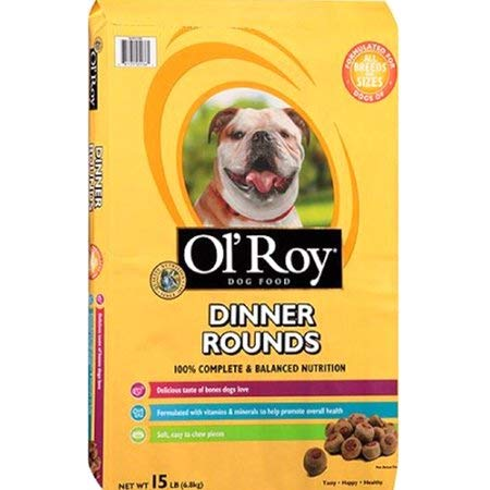 PACK OF 3 - Ol' Roy Dinner Rounds Dry Dog Food, 15-Pound
