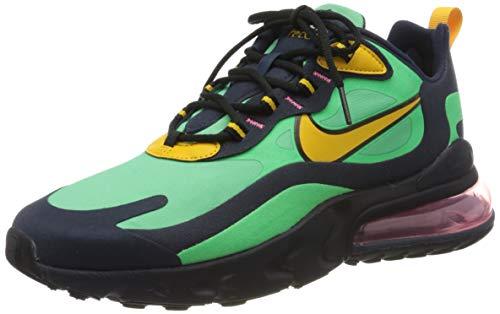 Nike Air MAX 270 React, Zapatillas para Correr Hombre, Verde (Electro Green Yellow Ochre Obsidian), 42 EU