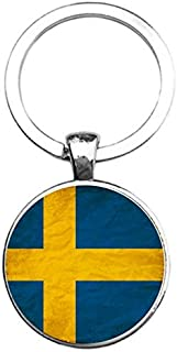 Sleutelhanger Glas - Vlag Zweden