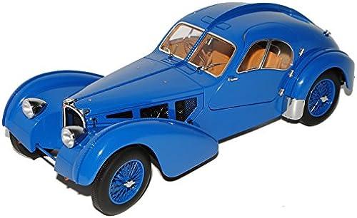 Bugatti Atlantic 57S 1936 Coupe Blau Spoked Wheels 70942 1 18 AutoArt Modell Auto