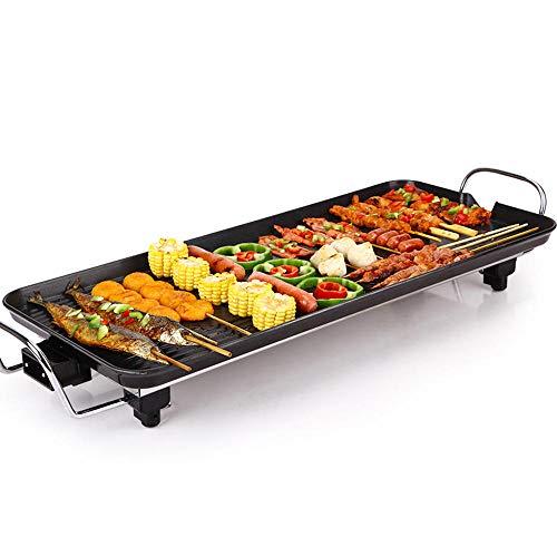 Grills Barbecue - Parrilla eléctrica sin humo, antiadherente, regulador de temperatura ajustable