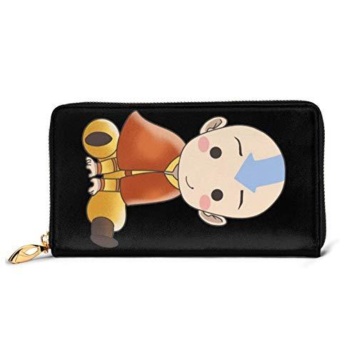 Avatar The Last Legend Airbender of Korra Aang Ledergeldbörse Brieftasche Leather Wallet Kreditkartenetui Für Damen Und Herren Black One Size