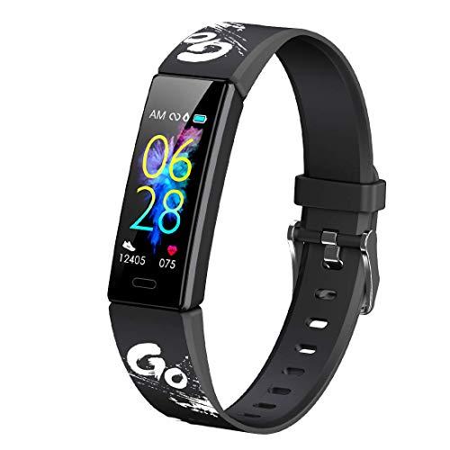 superpow Aktivitätsarmband für Kinder, Smartwatch mit Schrittzählern, Herzfrequenz- und Schlafmonitor, Stoppuhr, Ip68-beständiges Smartband-Sportarmband, Android/iOS-Smartwatch
