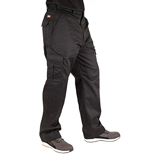 Lee Cooper Herren Cargo Trouser Hose, Black, 34W/33L (Long)