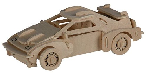 Out of the blue - Puzzle Bois 3D Voiture F-20 – 4 x 15 cm