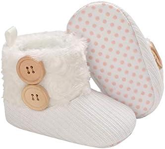 Botitas y Patucos para bebés, Botas de Niño Calcetín Invierno Soft Sole Crib Raya de Caliente Boots de Algodón para Bebés 0-18 Meses