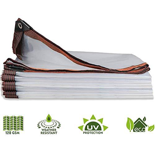 XYXH Lonas Impermeables Exterior Transparente con Ojal De Metal Multifuncional, Anti Congelación Película, Resistente Al Agua Y A Los Rayos UV, para Plantas Al Aire Libre Invernadero