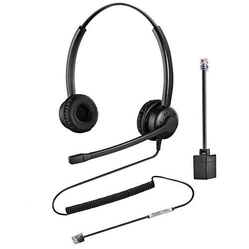 Oppetec RJ9 Handy Headset mit Geräuschunterdrückendem Mikrofon Kompatibel mit Avaya Aastra Alcatel Gigaset NEC usw