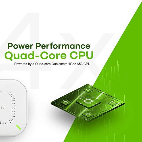 ZyXEL Echter WiFi 6 WLAN-AP (802.11ax Dual-Band), 1,77 Gbit/s mit Quad-Core-CPU und Dual 2x2 MU-MIMO-Antenne, verwaltbar über Nebula App/Cloud oder Standalone [NWA110AX] NWA110AX-EU0102F