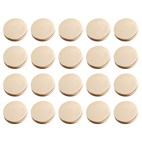 Healifty 20 Piezas de Metal Botón Plano Chaqueta Botón Camisa Traje Pantalones Botón Botón Abrigo de Lana Botones Decorativos (Dorado)