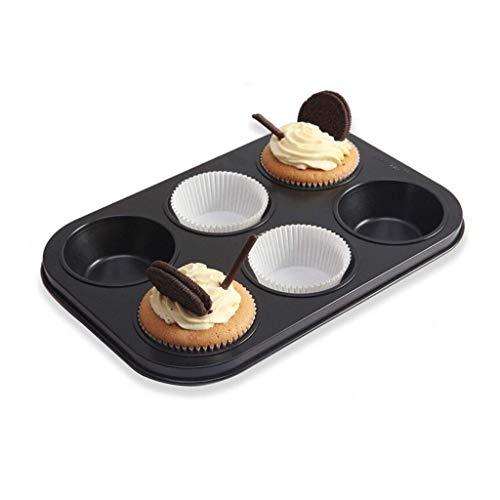 NIHAOA Panecillo Magdalena moldes Antiadherente Muffin Pan 6 Copa Pan Molde for Pasteles/Molde de cocción Bandeja Bandeja de Revestimiento Mollete Mollete de la Torta Pastr (Color : -, Size : -)