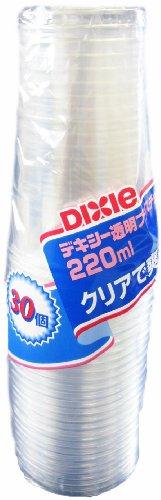 デキシー エコノウェア 透明プラカップ 220ml 30P