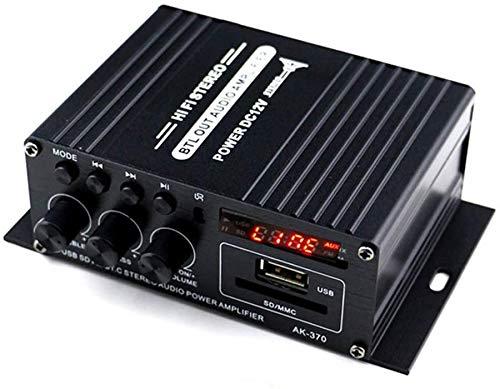 900W Amplificatore Bluetooth, Mini Amplificatore di Potenza Audio Hi-fi Bluetooth amplificatore per Cuffie, Stereo Hi-Fi Digital Amp 2.0 Channel 450W×2 con ingresso AUX USB