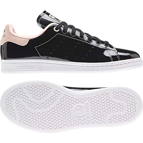 adidas Originals Stan Smith, Zapatillas Deportivas. Mujer, Color Negro, Blanco y Rosa, 40 EU