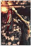 HuGuan Lienzo Y Arte De Pared PóSter Camiseta de Futbolista Messi Rey de Barcelona Regalo para Novio Pintura Pared Y Estampados Cuadros 15.7