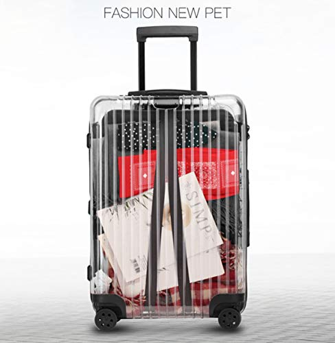 Panoramic Transparent Retractable Suitcase, Hard-Shell Suitcase with TSA Lock and 4 Rotating Wheels, Lightweight, Durable and Creative A Commuter Box is Preferred Airplane Suitcase