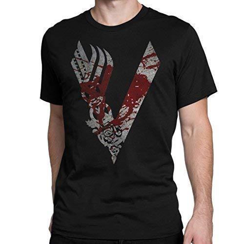 Vikings Bloody T-Shirt TV Ragnar Nordic Dark tee Camisetas y Tops(Medium)