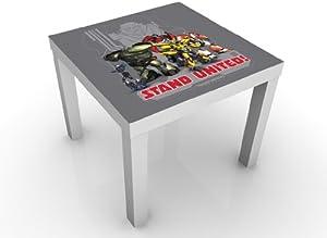 Transformers Mesa de diseño Team Stand United Mesa Auxiliar, Mesa de café, diseño de, habitación de los niños, Boy, Robot, transformación, Coche, acción
