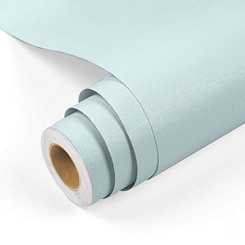 """Yenhome Tiffany Blue Contact Paper 17.7""""x118"""" Blue Peel and Stick Wallpaper Decorative Self Adhesive Film Drawer Shelf Liner Paper Removable Wallpaper Stick and Peel Contact Paper for Bedroom Cabinets"""