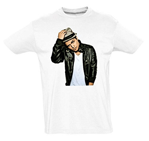 Bruno Mars Funny Mens & Ladies / Herren & Damen Unisex T-Shirt (White, S