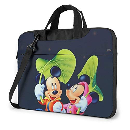 Hdadwy 13 Inch Laptop Bag and Minnie Under The Stars Laptop Briefcase Shoulder Messenger Bag Case Sleeve