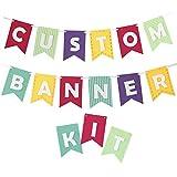 Decomod Custom Banner Kit Bunting & Letters Laser Cut Felt Customizable Length - Beautiful Brights