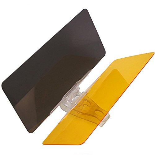 Mintice&Trade; 2 in 1 Auto Sonnenblende Blendschutz Transparent Anti-Glare Glanz Glas für Tag und Nacht Sonnenschutz Sichtschutz Reinigungstuch Glotzen