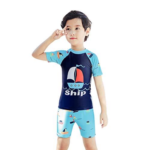 Bekleidung Jungen Bademode Kinder Split Badehose Anzug Jungen im Big Boy Cartoon-Badeanzug Kinder Baby-Schwimmen Ausrüstung Tide Schwimmen (Color : A, Size : XL/55-60kg)