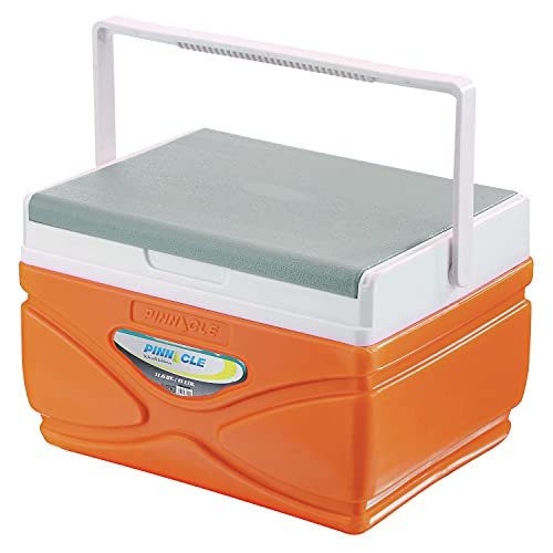 Pinnacle Ice Cooler Box (Keeps Cold Upto 48 Hours) (Prudence 11L Orange)