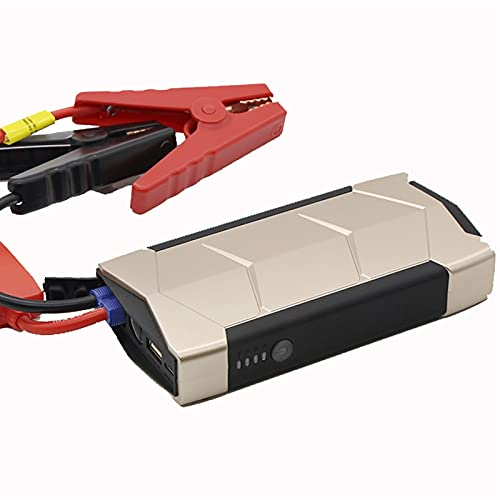 600A 15000mAh Arrancador emergencia automóvil Amplificador batería emergencia Herramienta eléctrica portátil exteriores 4.0L Gasolina 2.0L Motor diesel Cargadores USB 12V LED ( Color : Gold+Inflator )