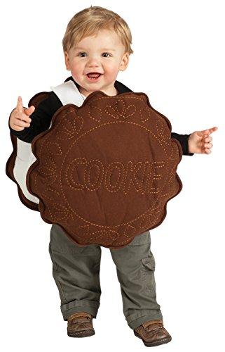 Disfraz de Galleta Cookie para niño, talla bebé 1-2 años (Rubies 885151-T)