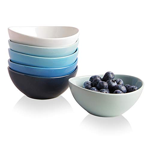 SWEEJAR Ceramic Small Bowls Set, 8 OZ for Ice Cream, Dessert, Small Side Dishes, Salad, Fruit, Set of 6