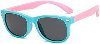 TzJz - TzJz Gafas de Sol for niños, niños y niñas, Espejo con Visera UV polarizada, Gafas de Sol for bebés, Gafas de Sol for niñas con Personalidad, Negro Rosa (Color : A)