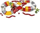 Circuit de Voiture Jouets Flexible Electrique Piste Jeu Cadeau de Noël et Anniversaires pour Enfants Garçon Fille 3 4 5 Ans
