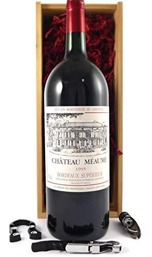 Chateau Meaume 1995 Bordeaux Superieur MAGNUM en una caja de regalo con cuatro accesorios de vino, 1 x 1500ml