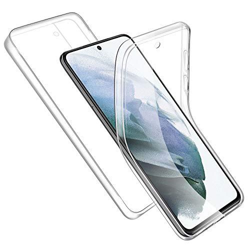 Hülle Kompatibel mit Samsung Galaxy S21 5G/S30, Transparente Handyhülle Weich Silikon TPU Vorderseite + Hart PC Zurück Schutzhülle Kompatibel mit Samsung S21, Rosyheart 360 Grad Komplett Schutz Cover