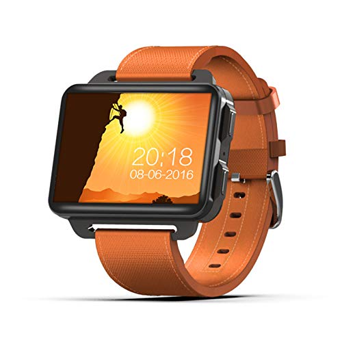 YGQNH Smart Watch, 3G Smart Watch Uomo Donna Orologio Sportivo Sistema GPS 1 GB + 16 GB WiFi Schermo IPS da 2,2 Pollici Pedometro Android Cardiofrequenzimetro(Color:Arancia)