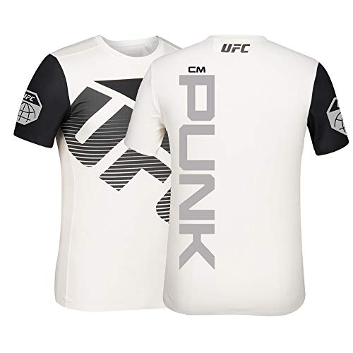 Reebok cm Punk UFC Men's White Fight Kit Walkout Jersey CB1542 (Small)