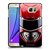 Head Case Designs Officially Licensed Power Rangers Red MMPR Famous Helmet Black Soft Gel Case Compatible with Samsung Galaxy Note5 / Note 5