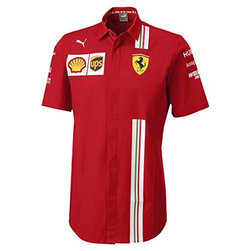 PUMA Ferrari Team Herren Kurzarm Hemd Rosso Corsa S