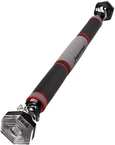 Sportstech KS200 Barra dominadas para Puerta con Sistema Hexagonal Patentado. Palanca tensora de Seguridad, 6 Puntos de presión. Carga máxima 300kg. Incluye Guantes y eBook Gratis - Barra musculacion
