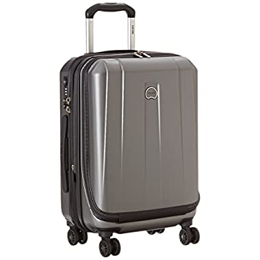 Delsey Luggage Helium Shadow 3.0, International Carry On Luggage, Front Pocket Hard Case Spinner Suitcase, Platinum
